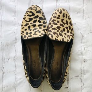 "[Kelly & Katie] ""Dandy"" pony hair leopard flats"